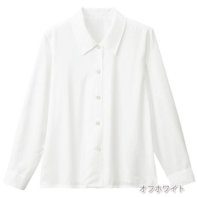 FB7505 フォーク オフィスウェア ブラウス 長袖 女性用 ホームクリーニング 家庭洗濯 FOLK 事務服 通勤 制服 レディース レディス シャツ 小さいサイズ 大きいサイズ  ホワイト 白 オフィスブラウス