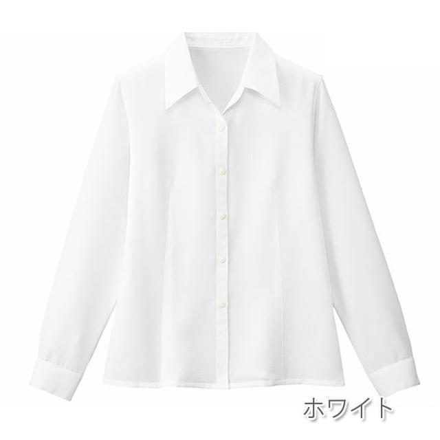 FB7532 フォーク オフィスウェア ブラウス 長袖 女性用 ホームクリーニング 家庭洗濯 FOLK 事務服 通勤 制服 レディース レディス シャツ 小さいサイズ 大きいサイズ  ホワイト 白 オフィスブラウス