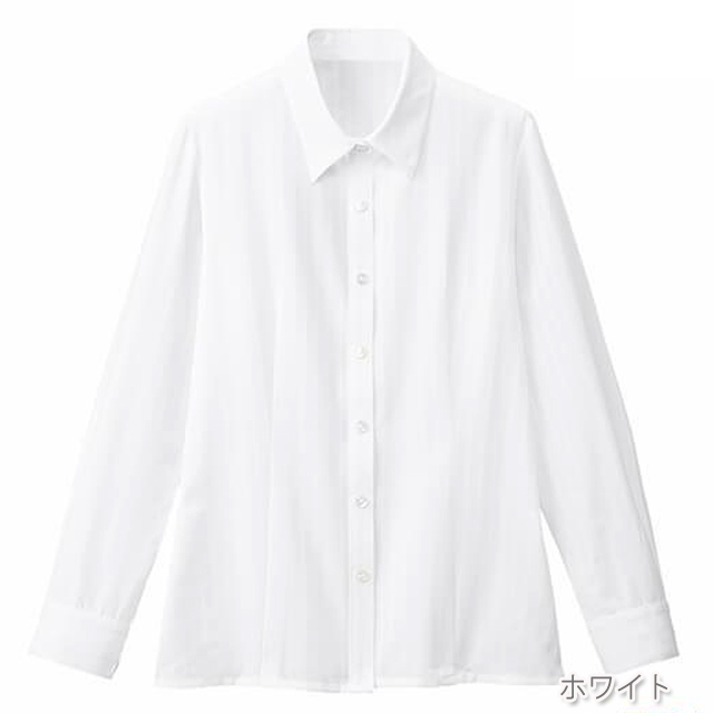FB75508 フォーク オフィスウェア ブラウス 長袖 女性用 ホームクリーニング 家庭洗濯 FOLK 事務服 通勤 制服 レディース レディス シャツ 小さいサイズ 大きいサイズ  ホワイト 白 ブルー 水色 ピンク