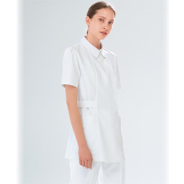 FE4512 ナガイレーベン ナースウェア ジャケット 女性用 ウエスト調整可 ポケット付き 制菌加工 制電 吸水 防汚 透け防止 NAGAILEBEN 医療用 看護師 介護 レディース レディス チュニック 上衣 白衣