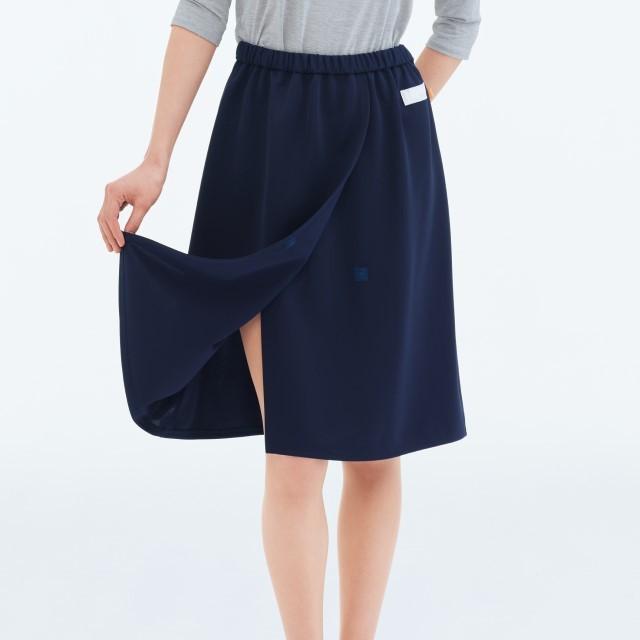 FK1488 女性用 検診スカート ネイビー ナガイレーベン製品