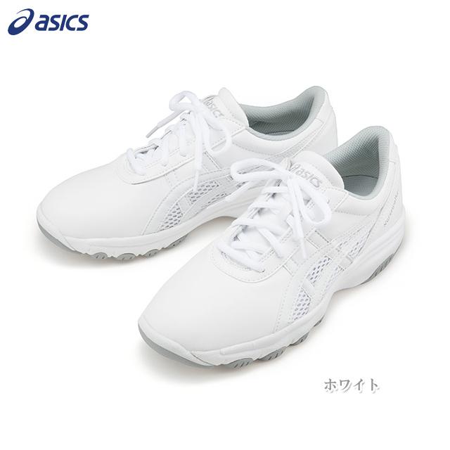 FMN201 アシックス ナースシューズ 男女兼用 疲れにくい 医療用シューズ asics 医療用 看護師 介護 医療従事者 ナーススニーカー ユニセックス 看護靴 ホワイト 白 グレー つま先ラウンド 3E ワイド 紐靴 大きいサイズ