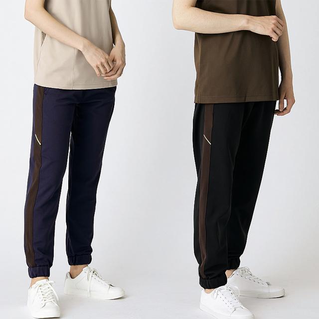 FP7413 男女兼用 腰ケアパンツ(ベルト別売) ジャージタイプ ジョガーパンツ モンブラン製品