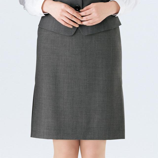 FS4051 フォーク オフィスウェア インサイドプリーツスカート 女性用 ホームクリーニング 洗濯可 FOLK ワークスタイル スーツ OL 会社 通勤 受付 レディース レディス ネイビー 紺 グレー サイドプリーツ