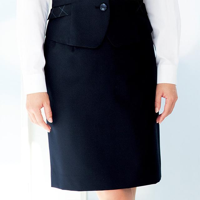 FS4052 フォーク オフィスウェア タイトスカート 女性用 ホームクリーニング 洗濯可 FOLK ワークスタイル スーツ OL 会社 通勤 受付 レディース レディス ネイビー 紺 グレー  サイドポケット