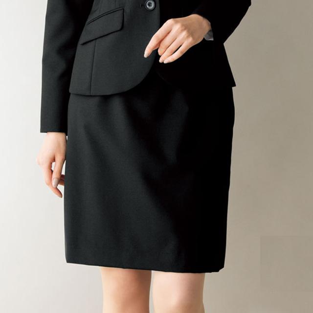 FS45749 フォーク オフィスウェア バックアップウエスト セミタイトスカート 女性用 ウエスト楽  滑り止めテープ ストレッチ ホームクリーニング 洗濯可 FOLK ワークスタイル スーツ OL 会社 通勤 受付