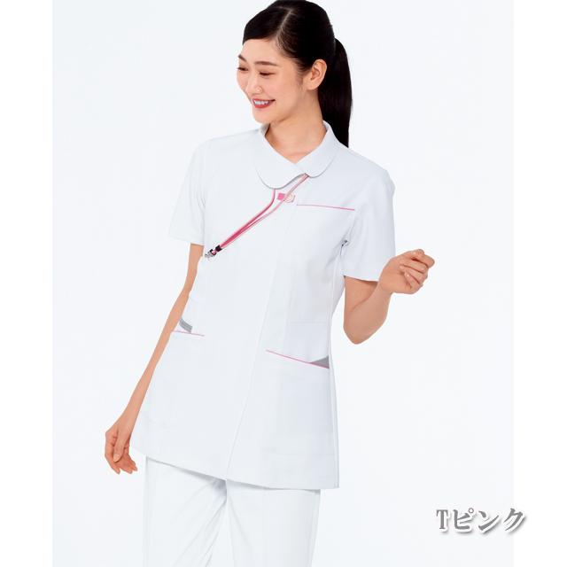 FT4592 ナガイレーベン(Naway) 女性用 ナース上衣 制菌加工 制電、吸水、防汚、透け防止効果