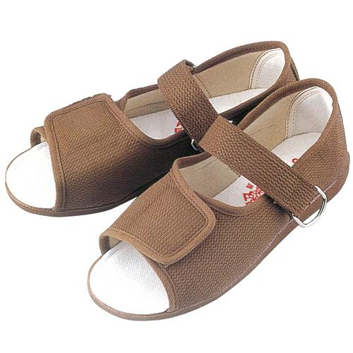 GM503 紳士用リハビリシューズ (白 茶 ホワイト ブラウン 靴 マリアンヌ製靴 mariannu 白衣ネット)