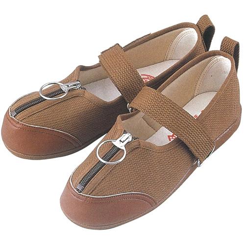 GM505 紳士用リハビリシューズ (白 茶 ホワイト ブラウン 靴 マリアンヌ製靴 mariannu 白衣ネット)
