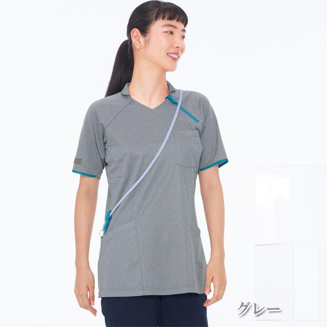 JM3142 ナガイレーベン(Nahalu) ニットシャツ 女性用  [介護 ケアウェア レディース チュニック シャツ ユニフォーム]