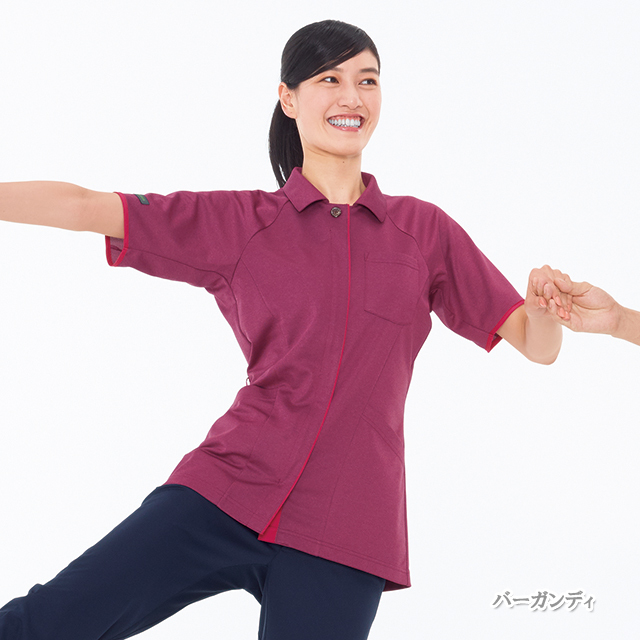 JM3147 男女兼用 ニットシャツ ナガイレーベン製品