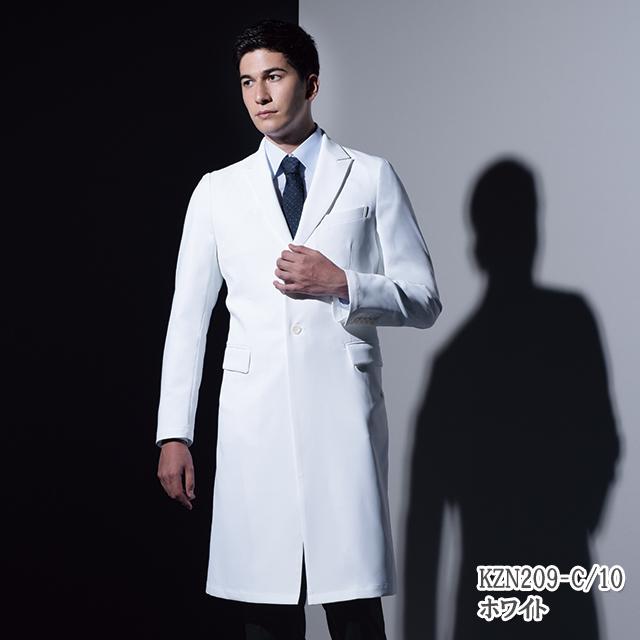KZN209 KAZEN カゼン メンズ 診察衣 医療 白衣 長袖 医師  ホワイト