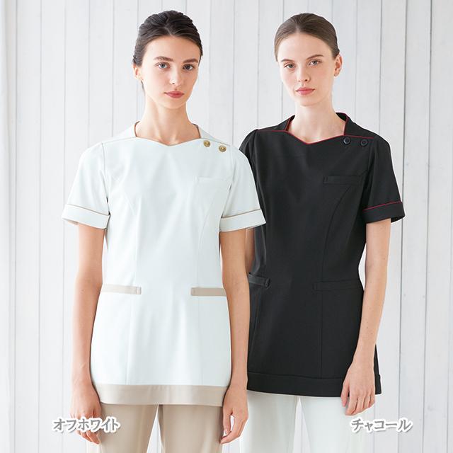 LH6282 ナガイレーベン チュニック レディース 半袖 [白衣 女性 女子 医療 ナース服 チュニック 女性用]