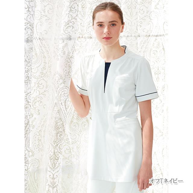 LH6292 ナガイレーベン  チュニック レディース 半袖 [白衣  医療 ナース チュニック 女性用]
