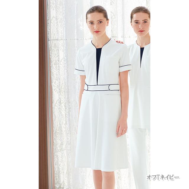 LH6297 ナガイレーベン  ワンピース レディース 半袖 [白衣  医療 ナース 女性用 送料無料]