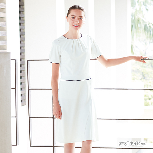 LH6307 ナガイレーベン  ワンピース レディース 半袖 [白衣  医療 ナース 女性用]