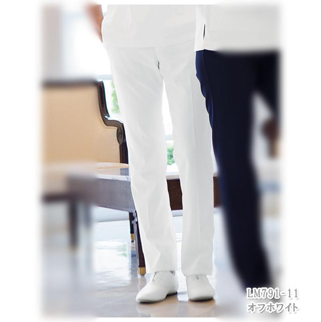 LM791 LAURA ASHLEY ローラ アシュレイ 住商モンブラン製品 メンズパンツ(両脇ゴム) 白衣 医療用 介護用 男性用