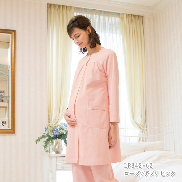 lp842 LAURA ASHLEY ローラ アシュレイ 患者衣 マタニティコート 長袖 モンブラン製品