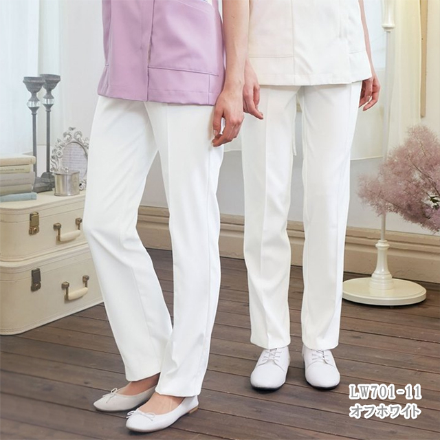 LW701 LAURA ASHLEY ローラ アシュレイ 住商モンブラン製品 レディスパンツ 白衣 医療用 介護用 女性用 レディース