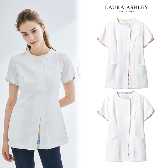 LW802 LAURA ASHLEY ローラ アシュレイ 住商モンブラン ナースウェア ナースジャケット レディス 医療用 女性用 花柄 白衣