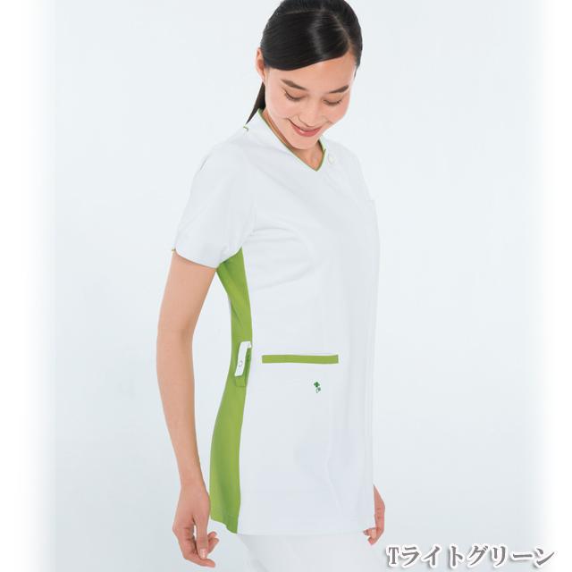 LX4082 ナガイレーベン女子チュニック半袖[白衣医療用看護師ナース女性用チュニック]