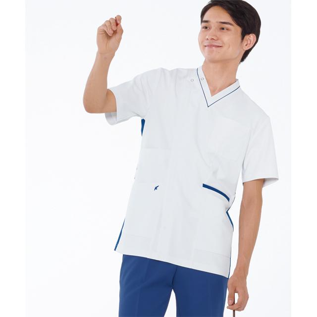 LX4087 ナガイレーベン男子スクラブ[白衣医療用看護師ナース男性用]