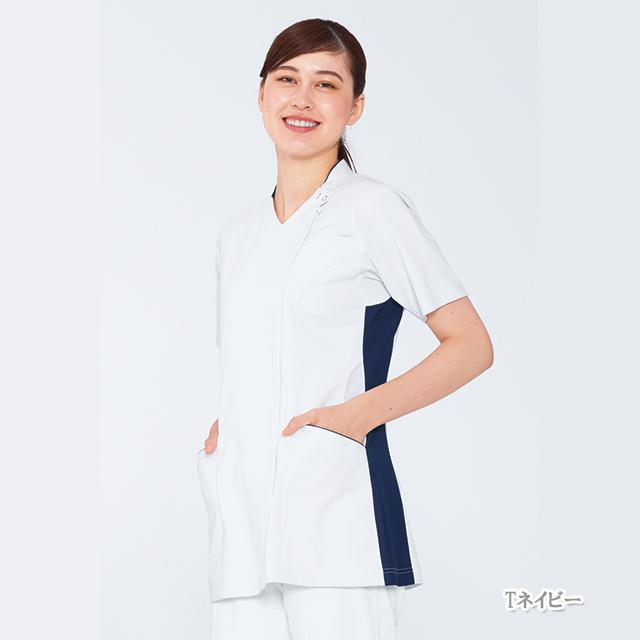 LX5377 ナガイレーベン 女子スクラブ [白衣 医療用 看護師 ナース 女性用 チュニック スクラブ ]