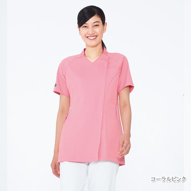 ML5362 女子 スクラブ ナガイレーベン製品(女性用 レディース レディス ジャケット チュニック 上衣 白衣 医療用 看護師 ナースウェア NAGAILEBEN)