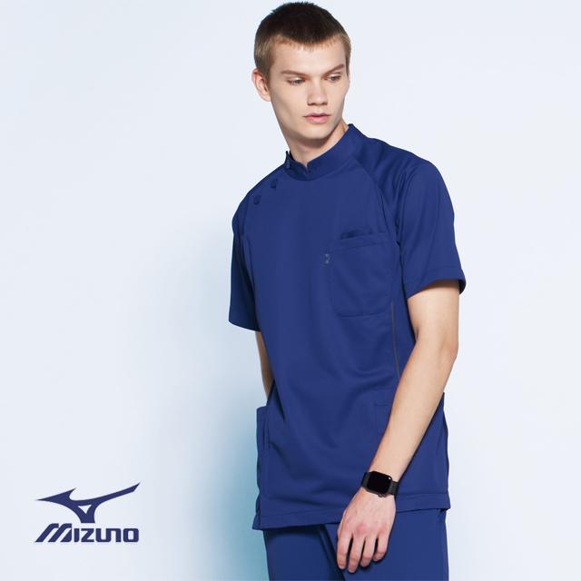 MZ-0049 ミズノ ドクターウェア ケーシージャケット 男性用 身体の動きに追随する 動きやすいウェア メンズ 医療用 制菌 吸汗 速乾 透防止 制電 ホワイト ブルー ネイビー 大きいサイズ 白衣 ドクター 医者 看護 4L 5L
