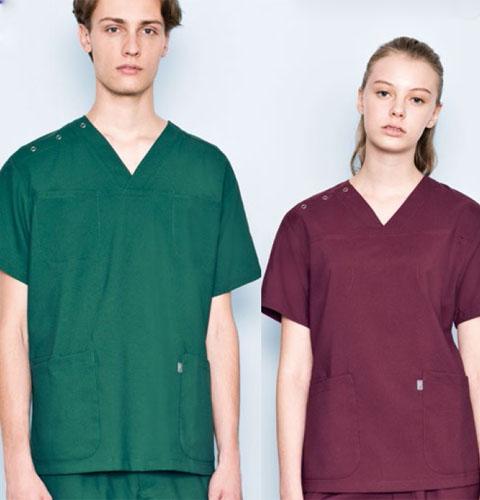 MZ-0051 ミズノ 体温調節機能素材使用 男女兼用スクラブ上衣 暑さの中では涼しく、寒さの中では暖かい【吸汗 速乾 医療 白衣 手術衣 看護 医者 ドクター】