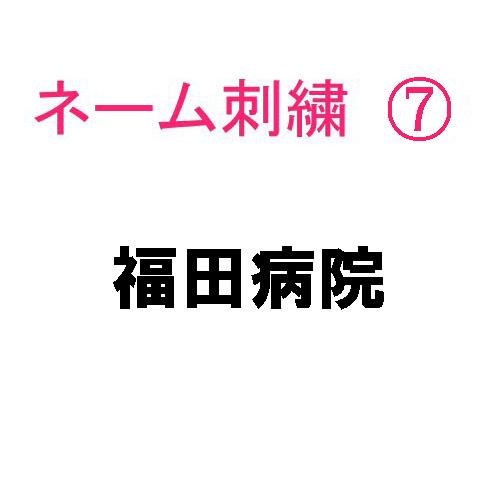 ネーム刺繍7(院名・店名・科名・職種 日本語)