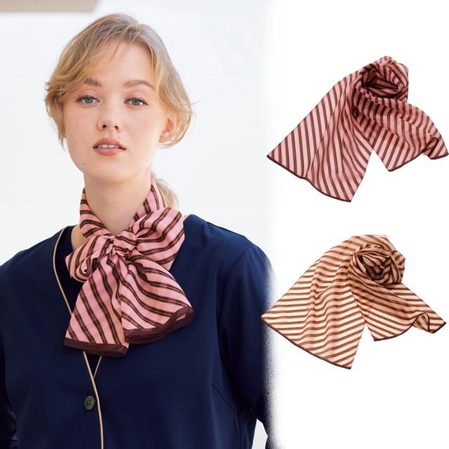 NF5255 ナガイレーベン オフィスウェア スカーフ 女性用 ポリエステル100% NAGAILEBEN 病院 クリニック 受付 OL オフィス 事務服 アクセサリー おしゃれ 可愛い 制服 ユニフォーム レディース