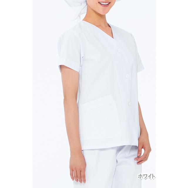 NP422 女子食品衣半袖(衿なし)