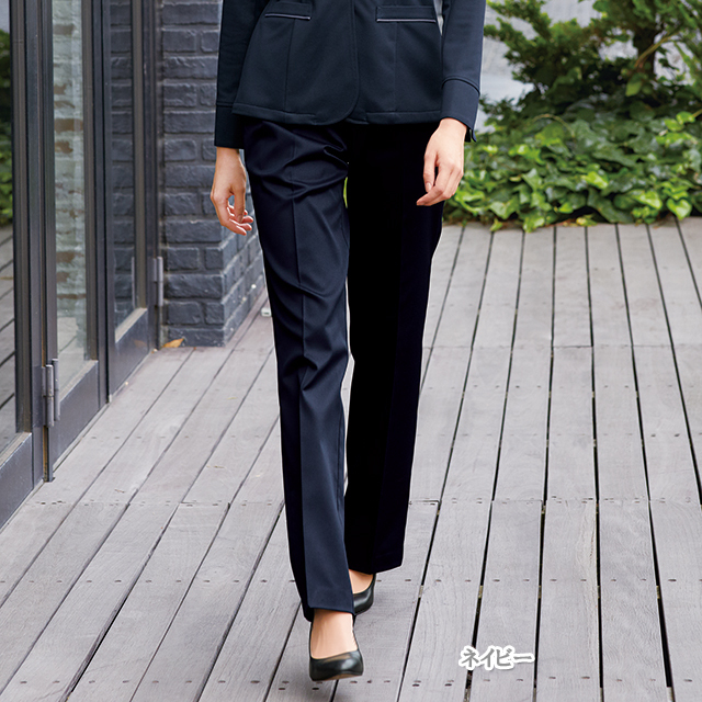 OA6003 ナガイレーベン 女子 パンツ ストレート [制服 ストレートパンツ オフィスパンツ スーツ]