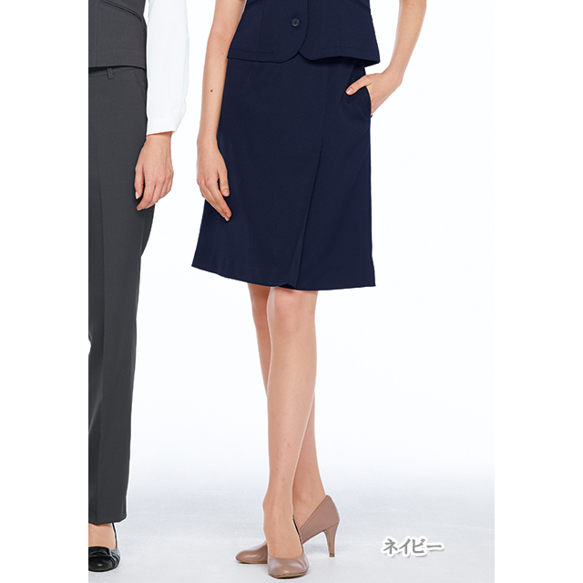 OA6018 ナガイレーベン 女子 スカート [制服 事務服 オフィス スーツ グレー ネイビー]