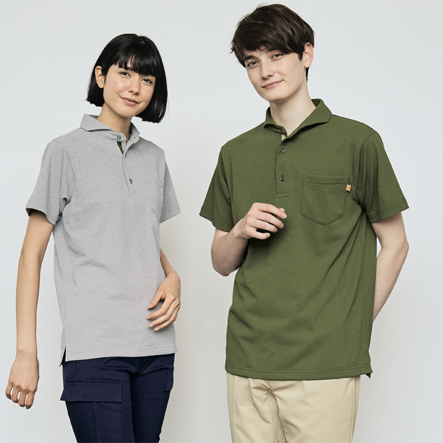 OV2511 onibegie オニベジ ポロシャツ 男女兼用 半袖 モンブラン製品