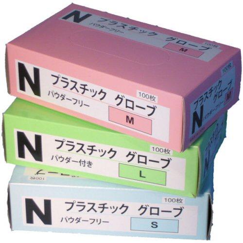 <激安>プラスチックグローブ (1箱351円×20箱)ケース