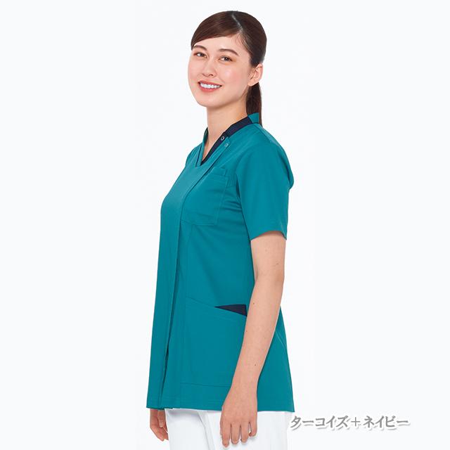 RF5142 ナガイレーベン(Naway)女子スクラブ 半袖[白衣 医療 ナース服 女性用 レディース]