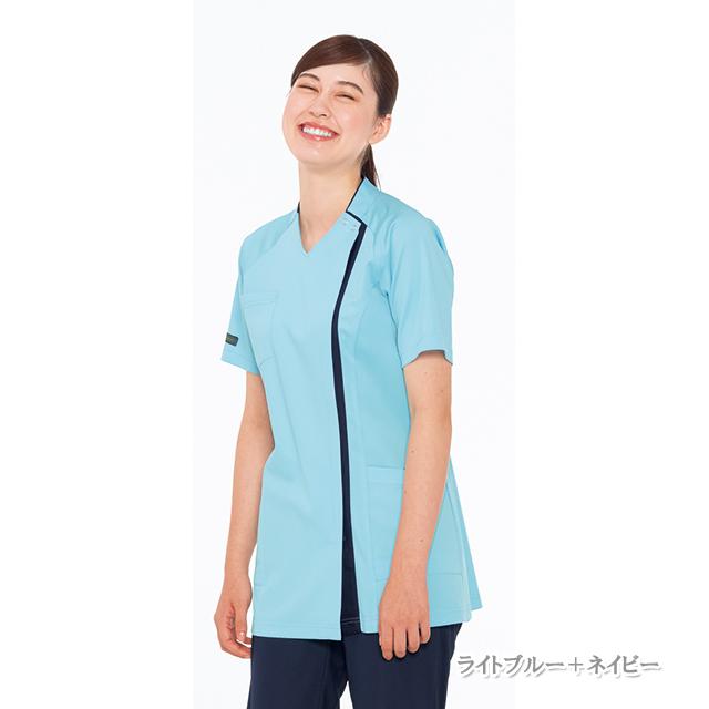 RF5182 ナガイレーベン(Naway)女子スクラブ 半袖[動きやすい 涼感 カラフル 白衣  医療 ナース服 女性用 レディース]