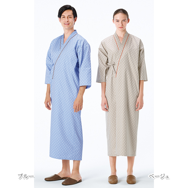 RG1450 ナガイレーベン(Naway) 男女兼用 患者衣上衣 ゆかた型 吸水効果