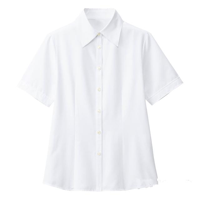 SB7002 フォーク オフィスウェア ブラウス 女性用 半袖 家庭洗濯可 透け防止 透けない FOLK 医療用 事務服 制服 オフィスブラウス ワークウェア 受付 病院 クリニック レディース レディス 女子 シャツ