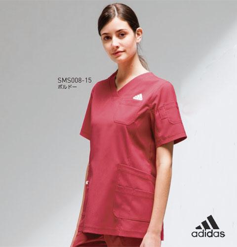 SMS008 adidas アディダス レディススクラブ(KAZEN)[白衣 ドクター 医師 ナースウェア 看護師 介護 女性用 病院 医院]