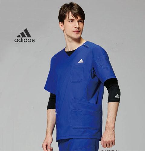 SMS118 adidas アディダス メンズスクラブ(KAZEN)[白衣 ドクター 医師 ナースウェア 看護師 介護 男性用 病院 医院]