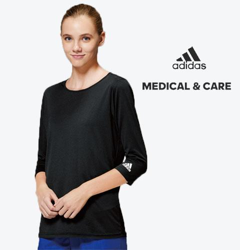 SMS900 adidas アディダス インナーTシャツ(KAZEN)[スクラブ用 アンダーウエア 白衣 ドクター 医師 ナースウェア 看護師 ケア 男女兼用]