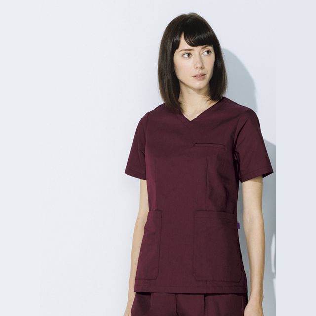 UN-0070 unite ユナイト スクラブ 女性用 (白衣 看護師用 ナース レディース 女性 ブラック ワイン ネイビー ベージュ パープル)