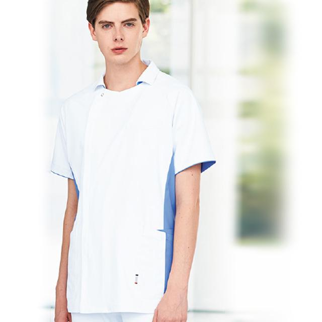 UQM1102 ルコックスポルティフ lecoqsportif メンズジャケット[吸汗速乾 工業洗濯 接触冷感 白衣 男子 ナースウェア 介護 男性用]