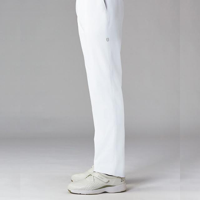 UQM2101 ルコックスポルティフ lecoqsportif メンズパンツ[ストレート ウエストゴム 透けにくい 吸汗速乾 工業洗濯 接触冷感 白衣 男子 ナースウェア 介護 男性用]