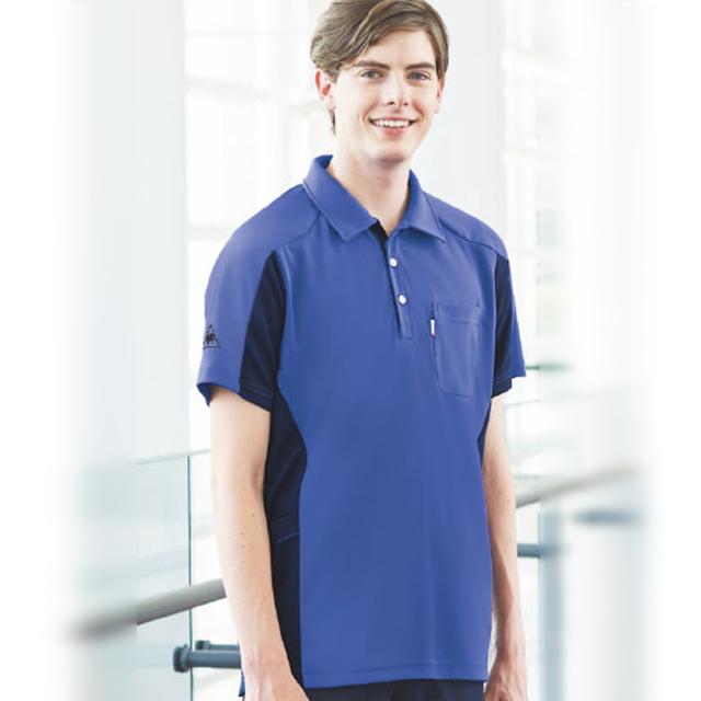 UZL3073 ルコックスポルティフ lecoqsportif ケアスタッフウェア ニットシャツ 男女兼用[男女兼用 吸汗速乾 工業洗濯 UVカット 透けにくい 介護]