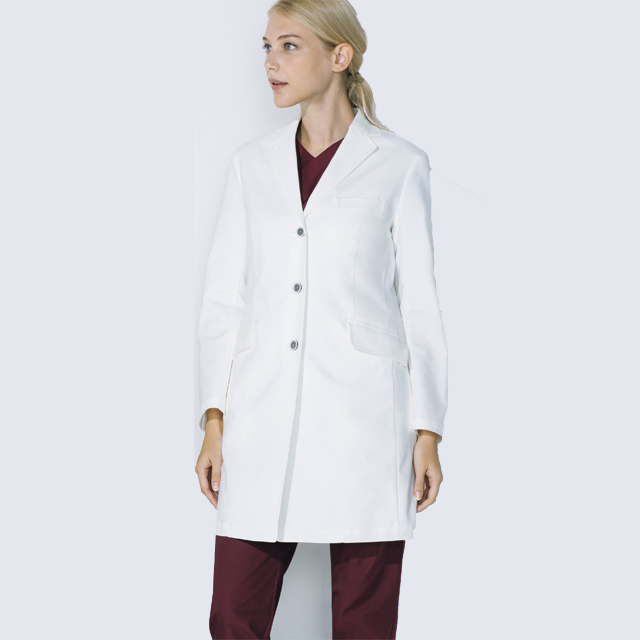 UN-0079 unite ユナイト ドクターコート 長袖 女性用 (白衣 診察衣 シングル ストレッチ 制菌 レディース)