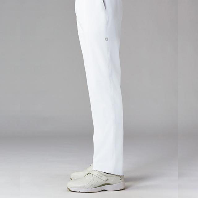 UQM2101 le coq sportif ル・コック メンズパンツ[ストレート ウエストゴム 透けにくい 吸汗速乾 工業洗濯 接触冷感 白衣 男子 ナースウェア 介護 男性用]